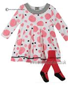 Catimini baby girls dress & tights CI30171-94051