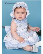 Dolce Petit baby girls frilled dress 21-2126-V Blue