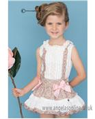 Dolce Petit girls blouse & skirt 21-2232-2/21-2232-3 Beige/Pk