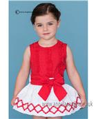 Dolce Petit girls blouse & skirt 21-2245-2/21-2245-3 Rd/Wh