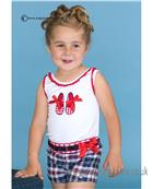 Dolce Petit girls blouse & shorts 21-2267-2/21-2268-3