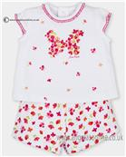 Tutto Piccolo girls top & short set 2595-17 Cerise