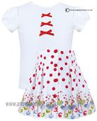 Sarah Louise girls top & skirt set 010805-010806