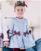 Dolce Petit girls dress 22-2233-V-17 Blue