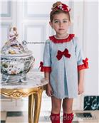 Dolce Petit Girls Dress 22-2242-V Grey