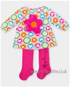 Agatha Ruiz girls velour dress 4491-17 AS SAMPLE