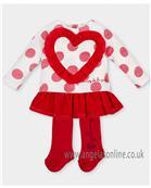 Agatha Ruiz girls heart dress 4322-17 Red