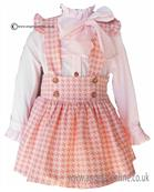 Loan Bor girls blouse & pinafore 8914-17