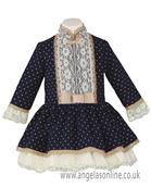 Miranda girls polka dot dress 22-0241-v-17