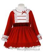 Miranda girls frill dress & mock skirt 22-0243-v-17 Red