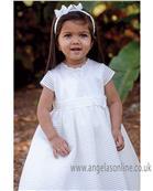 Sarah Louise Christening Dress White 070075