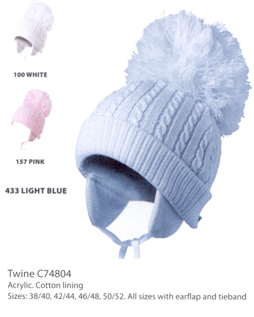 433be6231db ... new zealand satila hats for kids twine in pale blue with large bobble  pom cc3d5 6255a