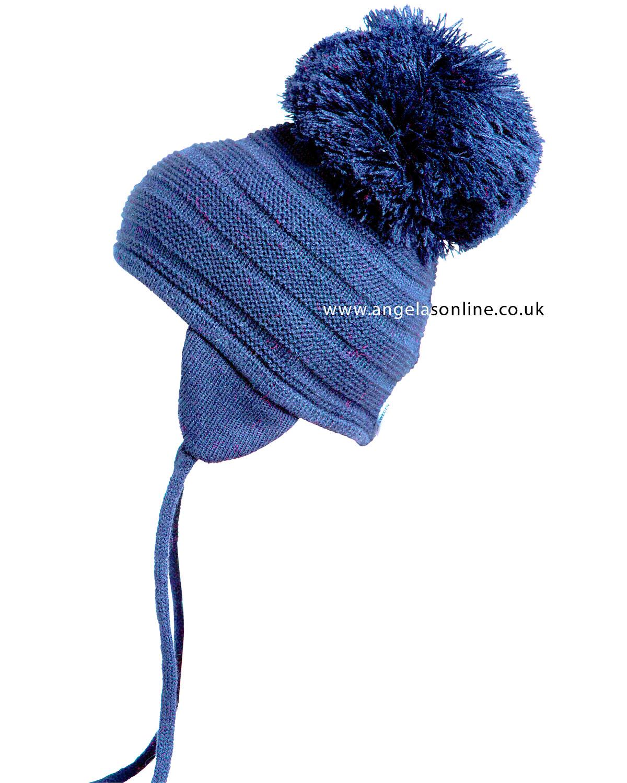 Satila Purl Navy Pom Pom hat for kids. Warm Winter Baby Hats. 6efe06b146c3