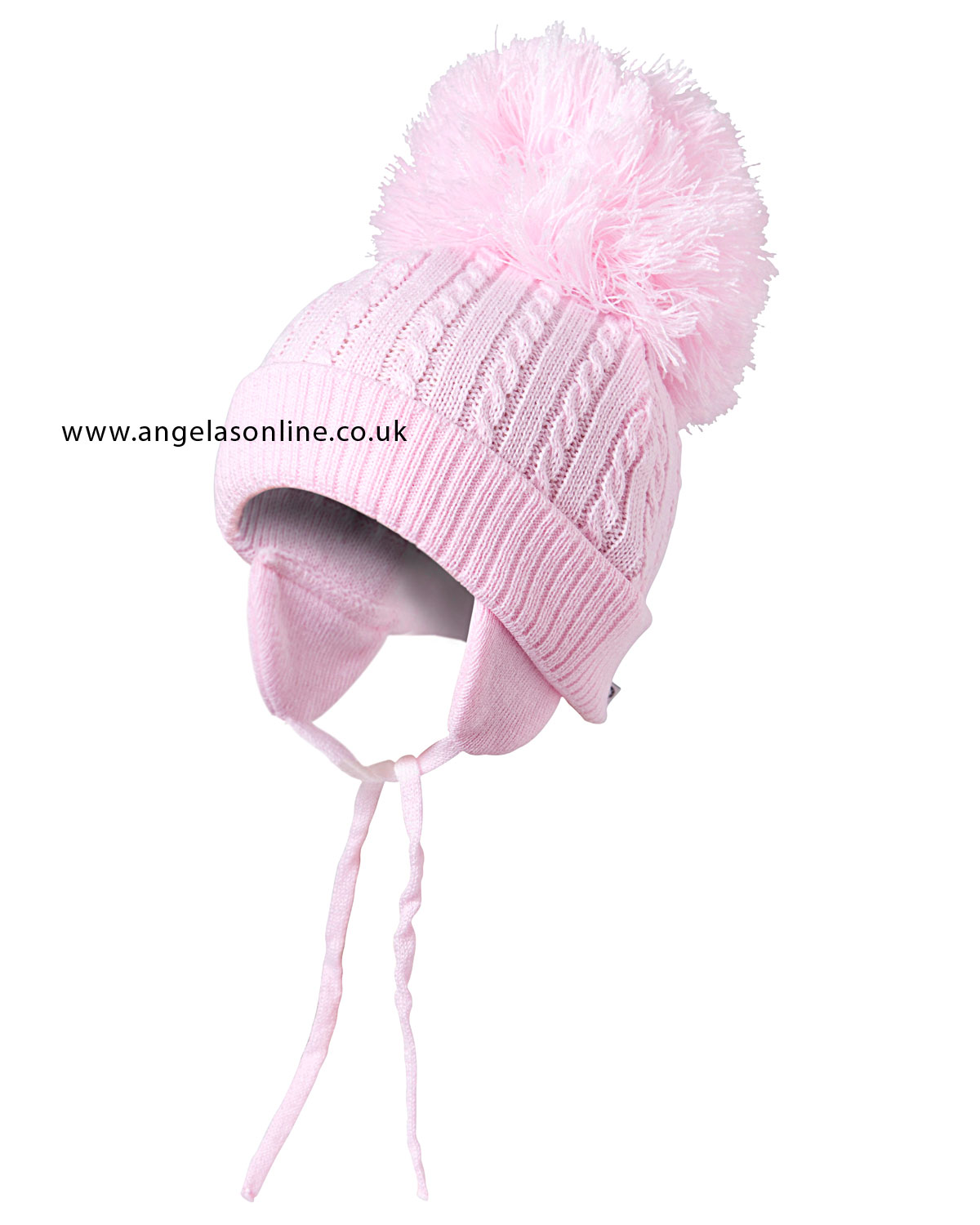 Satila Hats For Kids Twine In Pink With Large Bobble Pom