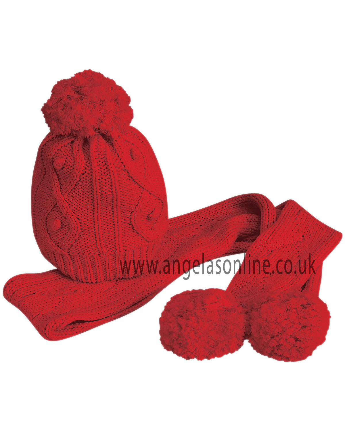 Dani Red Hat & Scarf D4515P | Sarah Louise Winter Accessories
