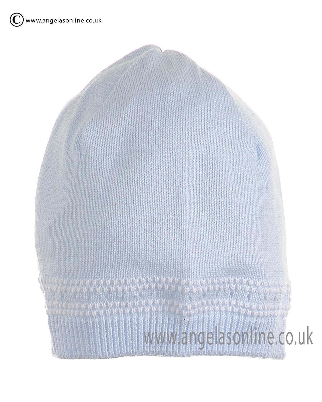 Pex Cable Baby Boys Pale Blue Knit Hat. Pex newborn baby ...
