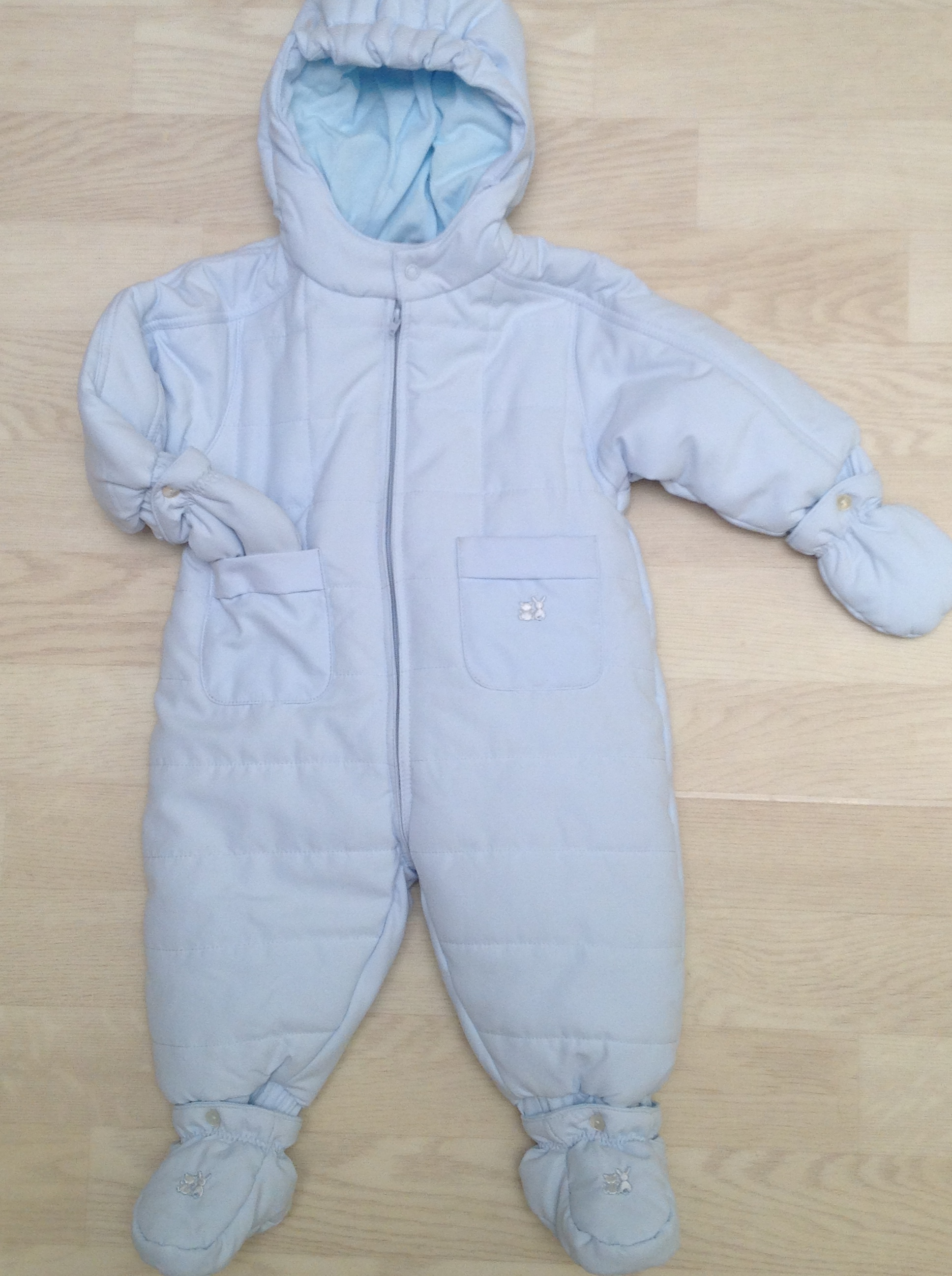 acd9686bb Emile et Rose Baby Boys Pale Blue Snowsuit, Mitts and Booties 1532