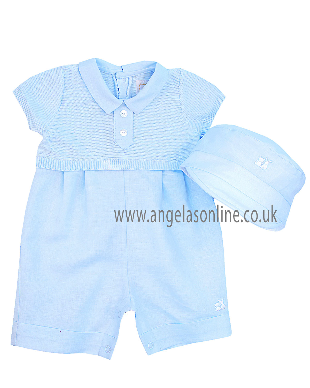 b4944d7d8 Sale Emile Et Rose Baby Boys Knit   Linen Romper Clark 7209pb