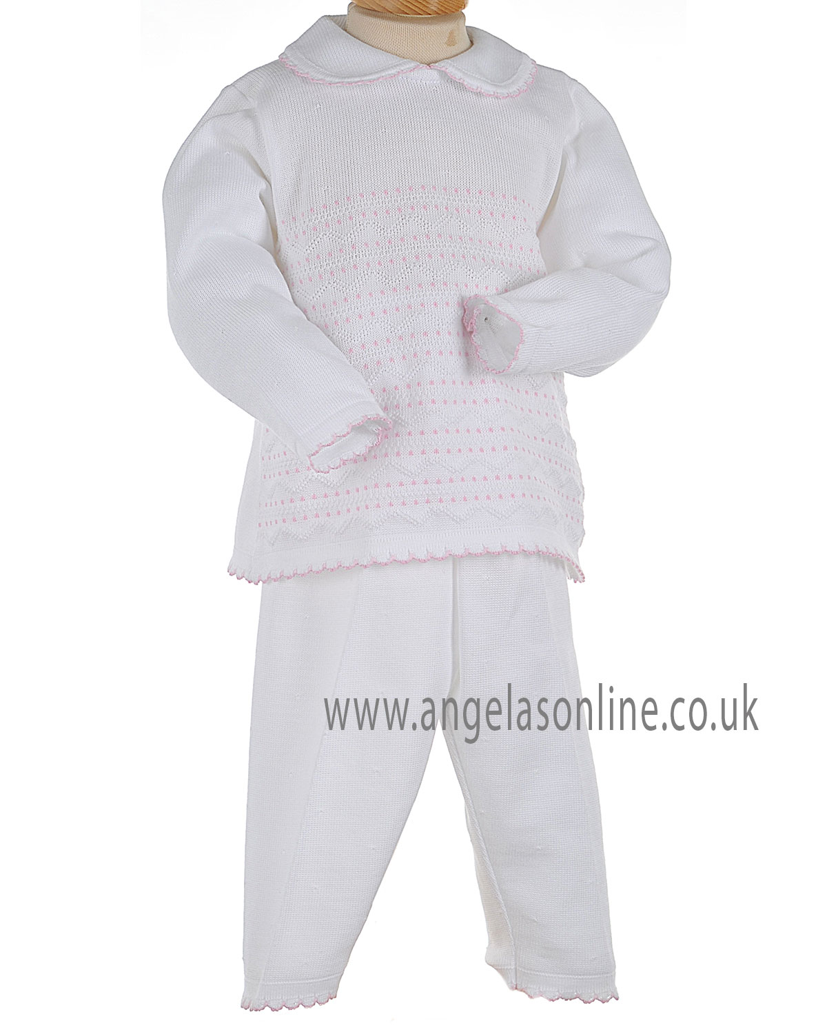 a87bc1ab95195 Winter 2016 SALE Pex Baby Girls Knitted White Top & Trousers B5764