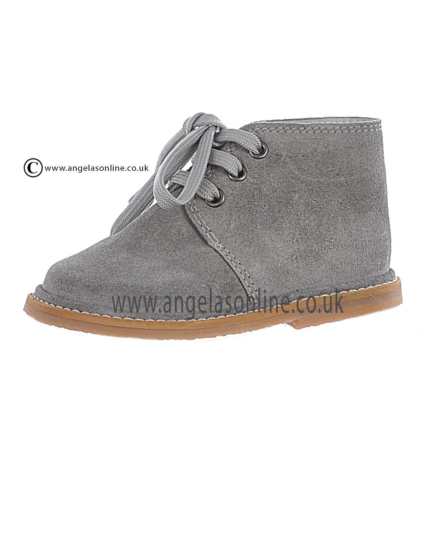 Borboleta Boys Smart Suede Light Grey Winter Boot 1416