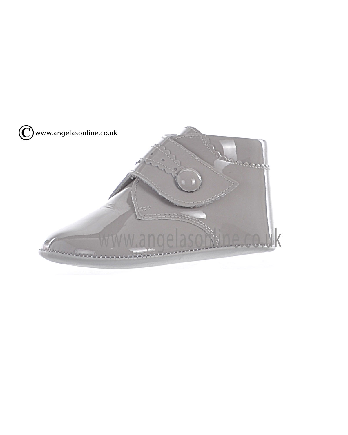 Andanines Baby Boys Grey Patent Leather Winter Boot 10160