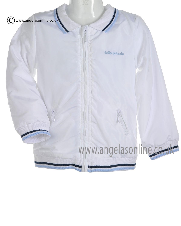 bb73d0574c82c Tutto Piccolo Baby Boys White Bomber Jacket 9641