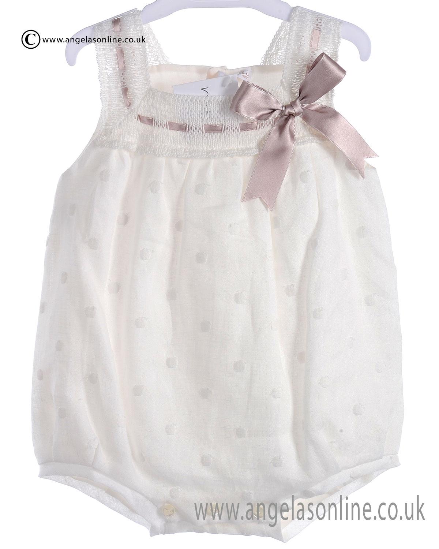 Mebi Sale Baby Girls Cream and Beige Romper 1381/045PT