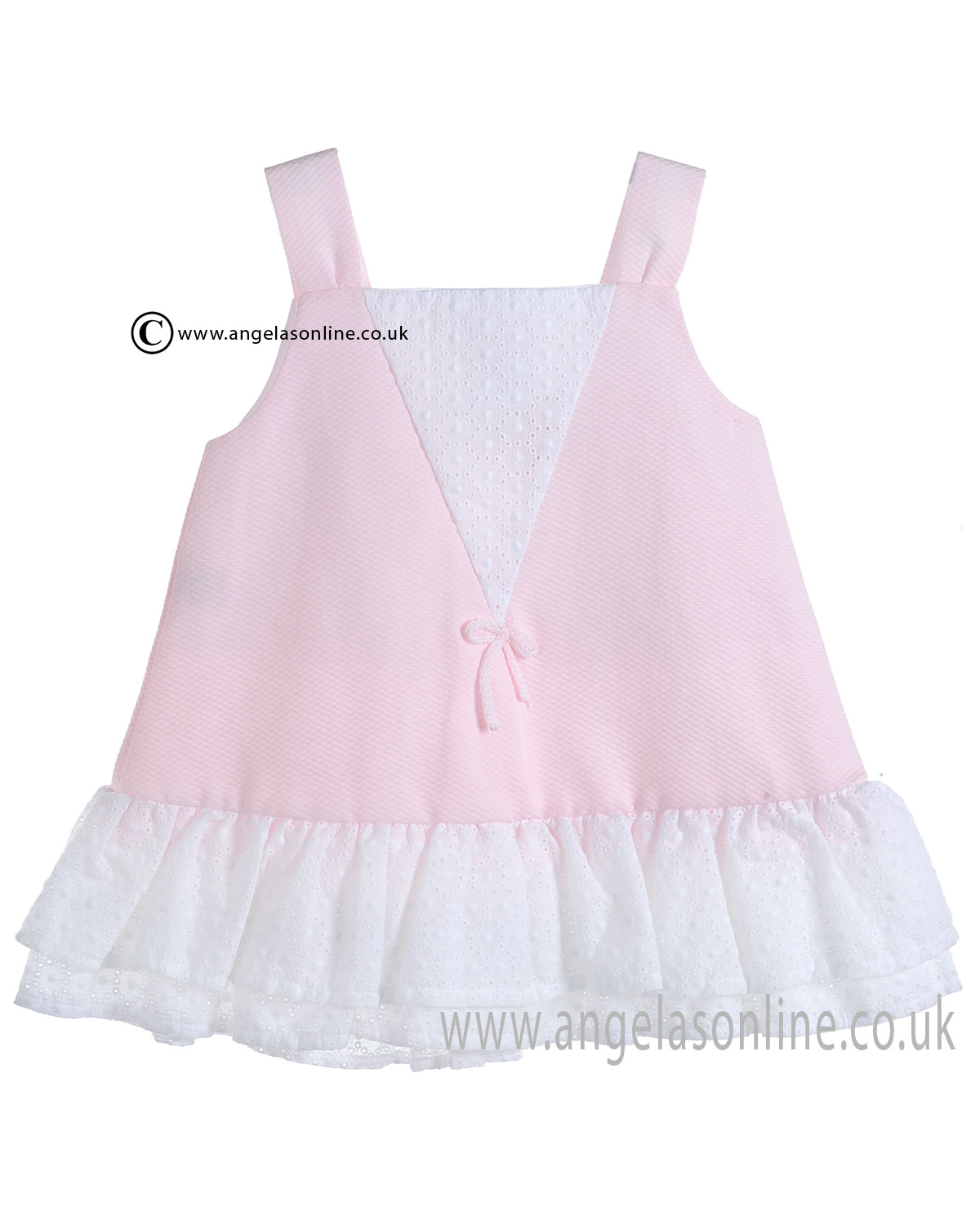 Mebi Sale Baby Girls Pale Pink and White Summer Dress 1386/057