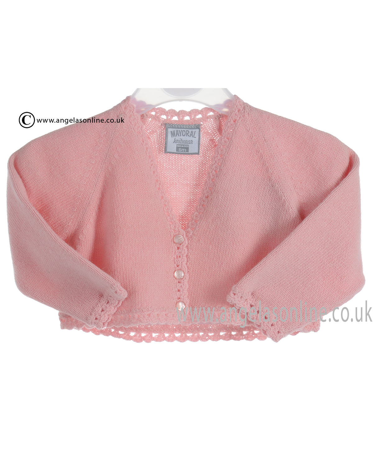 9bc6304f4 Mayoral Baby Girls Pink Wool Knit Cardigan 2309 Now On Sale
