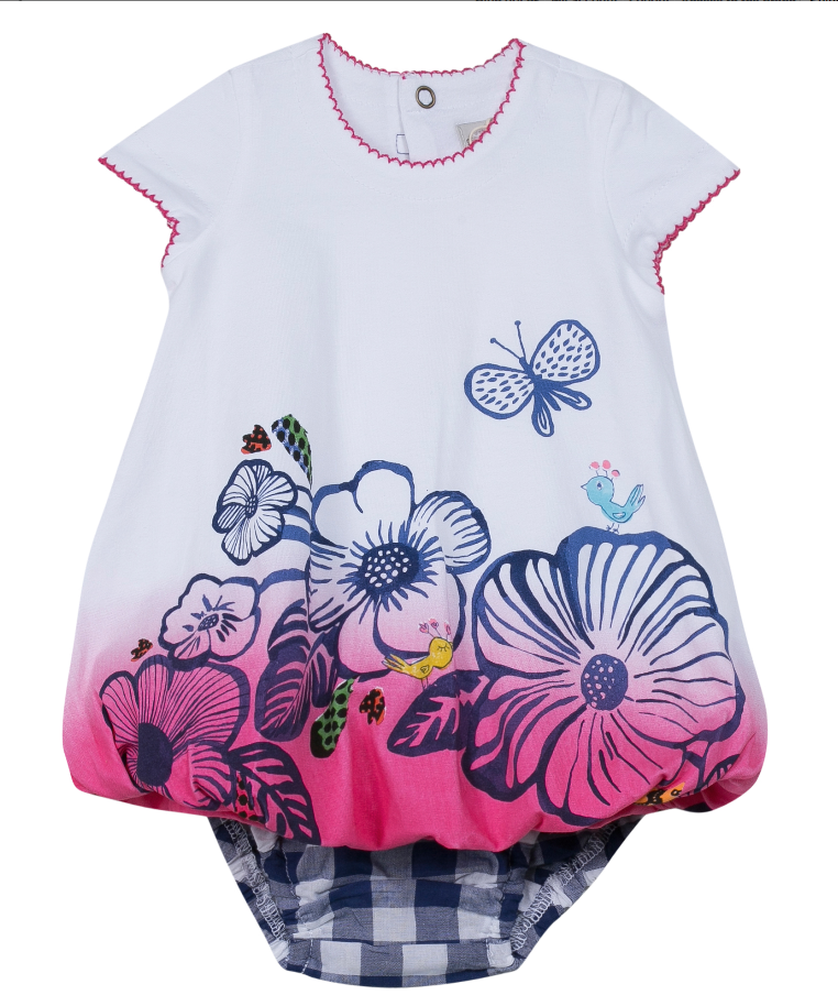 Catimini Sale Discounted Baby Girls White Dress & Knickers ...