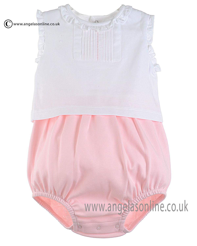 Laranjinha Baby Girls All in One Romper V6620 Pink