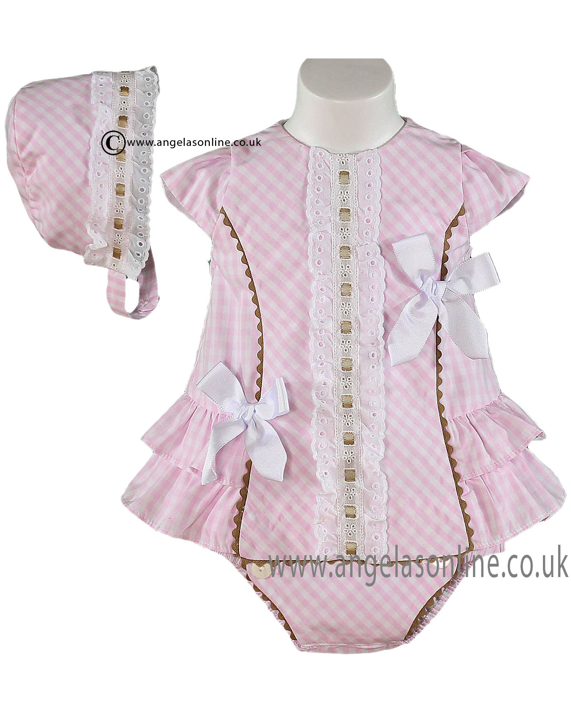 Miranda baby girls spanish smock dress a2720dad2aa