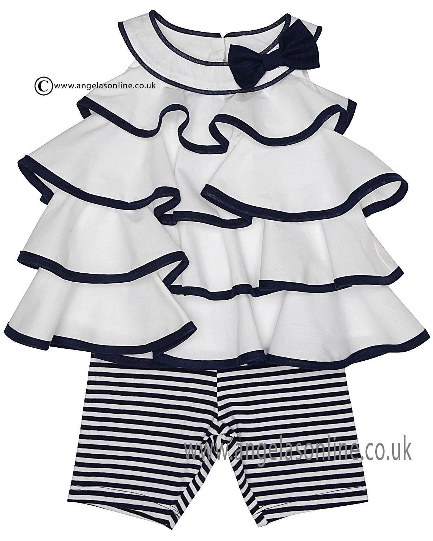 Kate Mack girls sleeveless striped tunic & capri legging ...