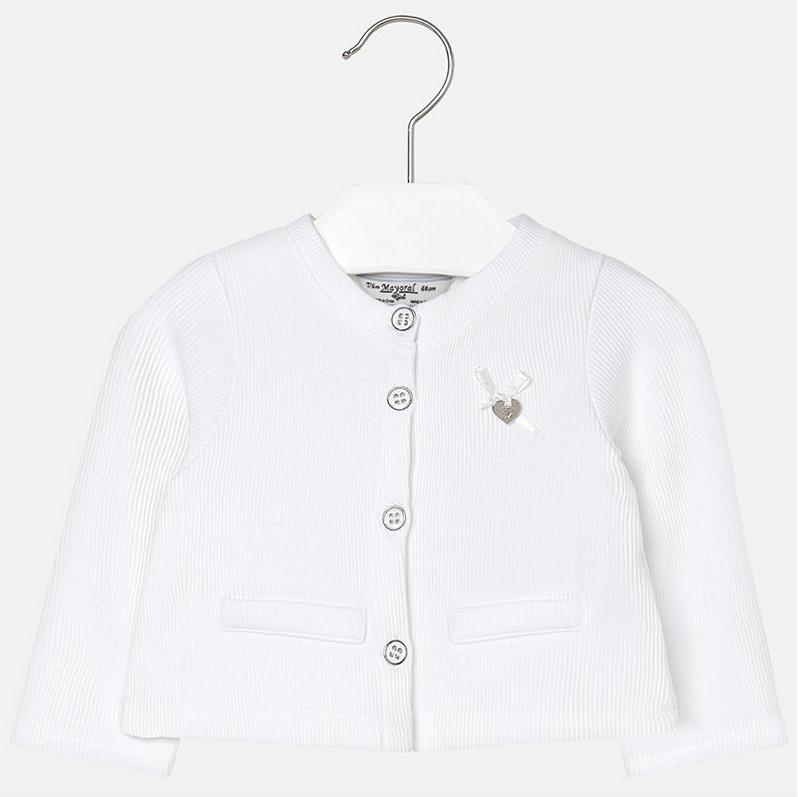 443ec0aa7429 Mayoral baby girls long sleeve spring summer cardigan 153-17 White