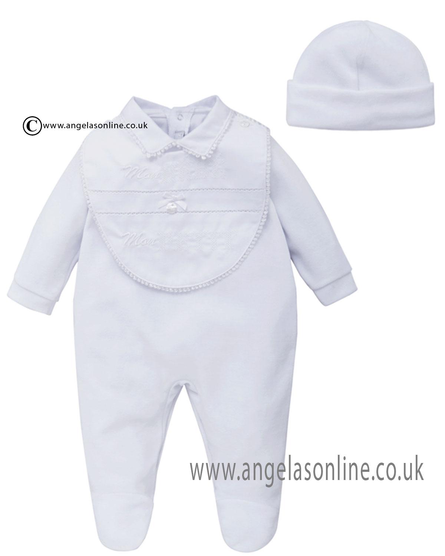 Co Co Baby Boys Designer Babygrow & Matching Winter hat ...