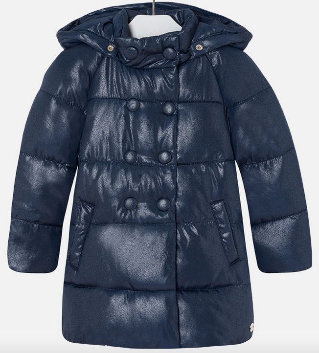 3bfd2b1f0fa Mayoral girls long winter designer padded coat with hood 4469-17 Navy