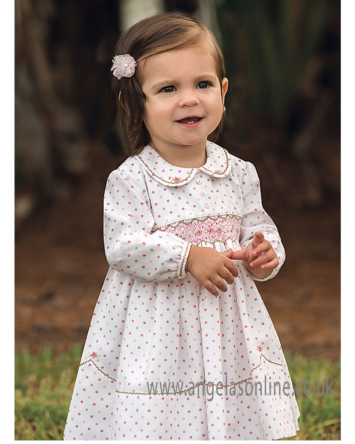 945d374c0448b Sarah Louise baby girls long sleeve designer winter dress 010907-17