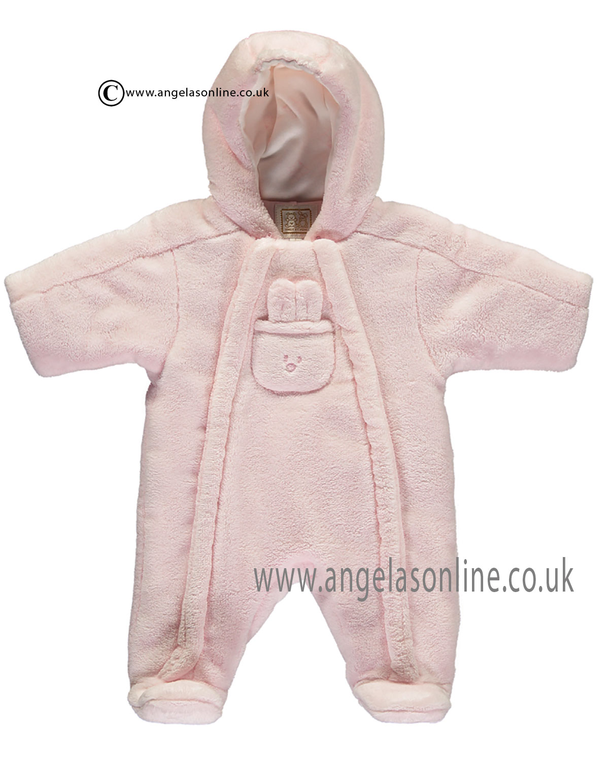 91398d05c16ad Emile et Rose baby girls pramsuit & bunny pocket Laura 1736pp-17 Pk