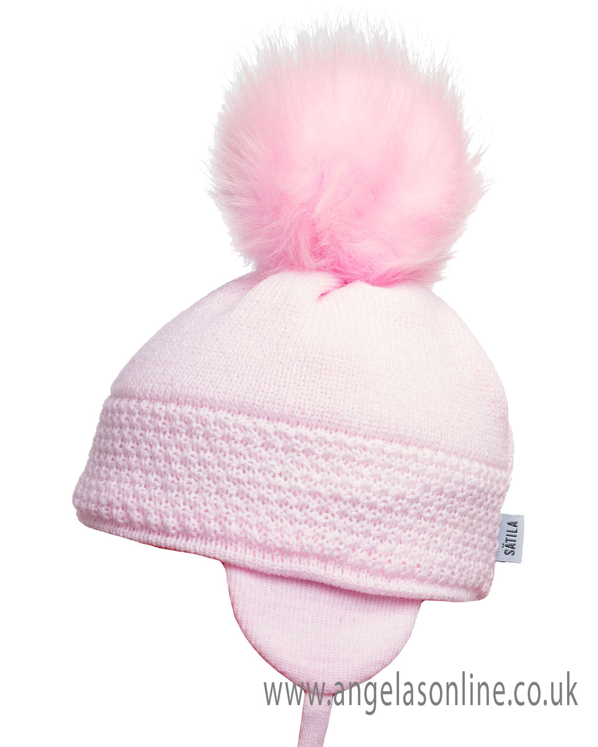 14a503dcd1e Satiila winter chidrens kids pull on hats with large pom pom bobble.