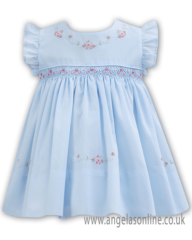 eb3585943f6f Pale blue summer season Sarah Louise baby girls dress 011069