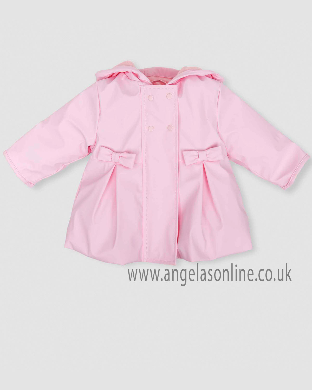 bb1b9d908 Tutto Piccolo baby girls pleated winter coat with hood 5520-18 pink