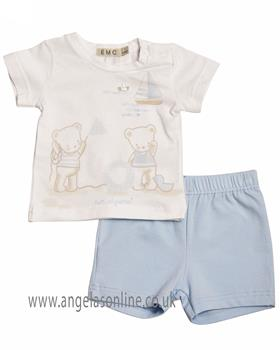 EMC Baby Boys Top & Short CO2498-19 BLUE