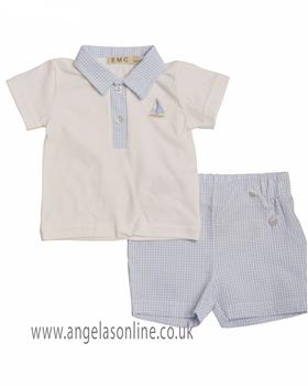 EMC Baby Boys Polo & Short CO2499-19 WHITE