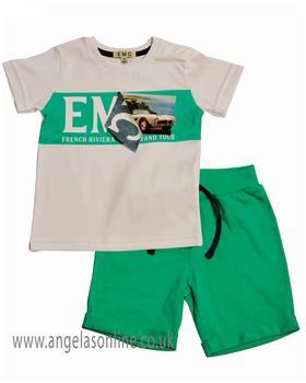 EMC Boys Short Set CO2539-19 Green