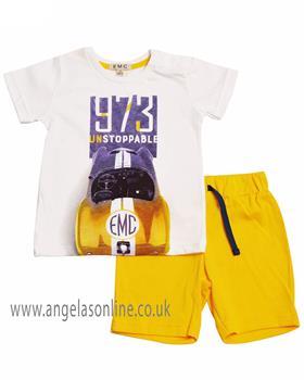EMC Boys Short Set CO2541-19 Yellow