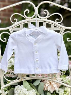 Laranjinha Baby Girls Jacket BS304 White