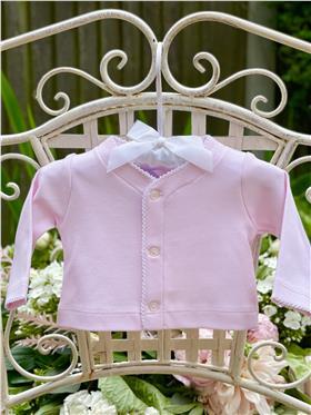 Laranjinha Baby Girls Cardigan BS304 Pink