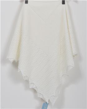 Granlei baby girls blanket 1-271-19 Ivory