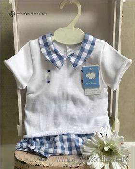 Macilusion Baby Boys Jumper & Jam Pant 7225-19 Wh/BL