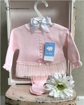 Macilusion baby girls jumper & footsie 7213-19 Pink